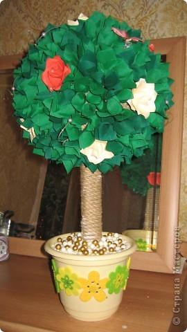 Вот такое дерево теперь растёт у моей мамы. Подарок ко Дню Матери. ОЧЕНЬ долго собиралась и вот ....... фото 5