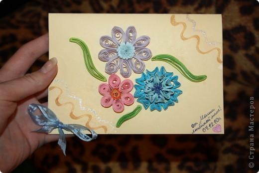 Вот. Четвёртого декабря у мамы день рождения. Такую открыточку я ей подарила. фото 1