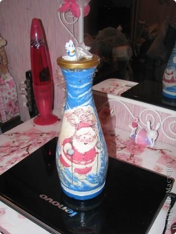 Новогодняя бутылочка. Подарок фото 1