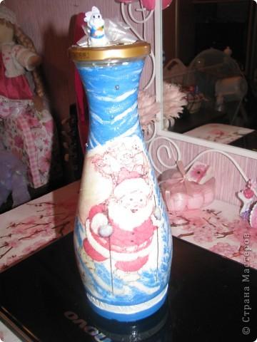 Новогодняя бутылочка. Подарок фото 2