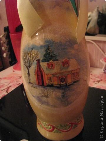 Новогодняя бутылочка 3. Подарок фото 2