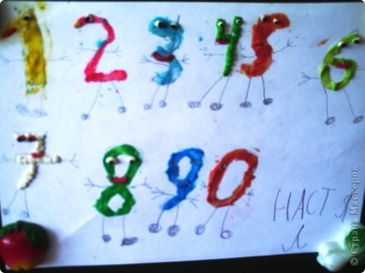 Вот такие цифры, вернее их образы, мы сделали с первоклассниками. фото 8