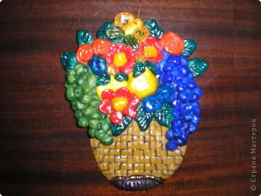 Фруктово - цветочная ваза