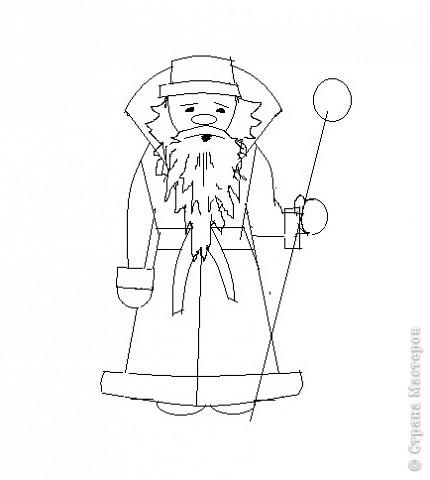 Очень хотелось самой научиться рисовать Деда Мороза. Можно украсить открытки, поделки.  Вот как у меня получилось.  Хочу и Вам предложить попробовать. фото 5