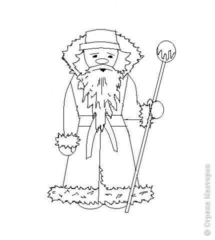 Очень хотелось самой научиться рисовать Деда Мороза. Можно украсить открытки, поделки.  Вот как у меня получилось.  Хочу и Вам предложить попробовать. фото 6
