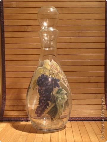 Графинчик для вина. Рисовая бумага, глитер, лак. фото 2
