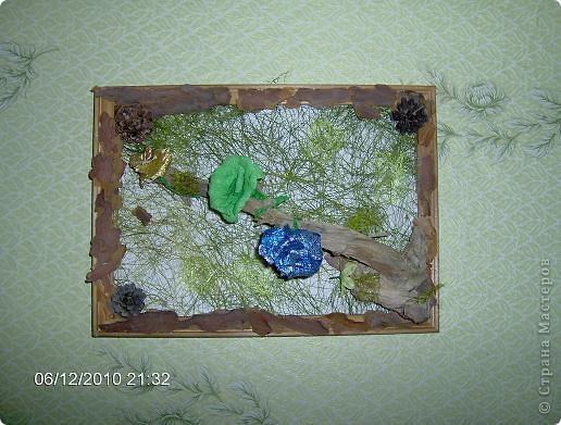 Эти работы я сделала в летнем лагере. Эта открытка изготовлена из подручных материалов. фото 2