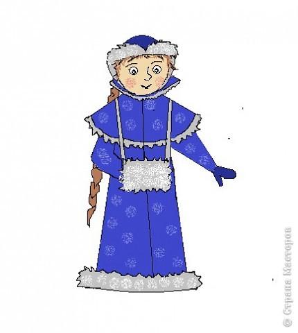 """По книги """"Учимся рисовать"""" Г.Н.Шалаевой я научилась рисовать снегурочку. Я рисовала на компьютере в программе Paint, а можно рисовать  и на листе. Попробуйте, у Вас получиться? фото 1"""