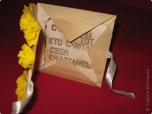 Открытка - конверт на завязках фото 2