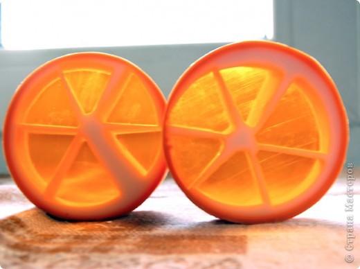 Мыло апельсиновое, декорированное сердечками фото 2