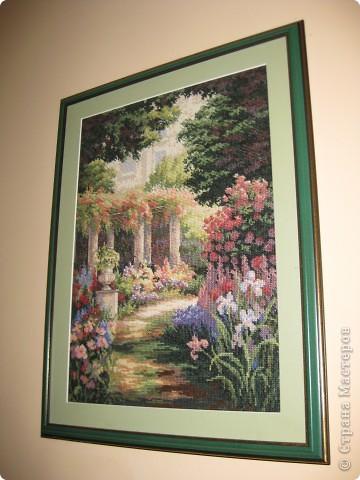 Цветущий сад. Вышивка крестом