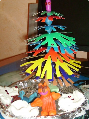 Креативная ёлочка к Новому году! Делали вместе с сыном 8 лет.