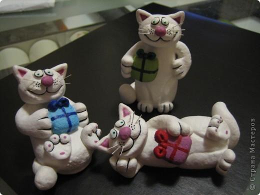 Новогодние коты и зайцы фото 4