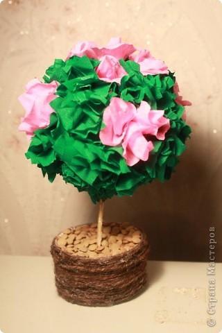 Ну, вот и у меня сотворилось деревце счастья-для подруги на день рожденья.
