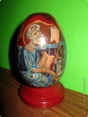 пасхальное яйцо. сторона с изображением Св.Петра фото 2