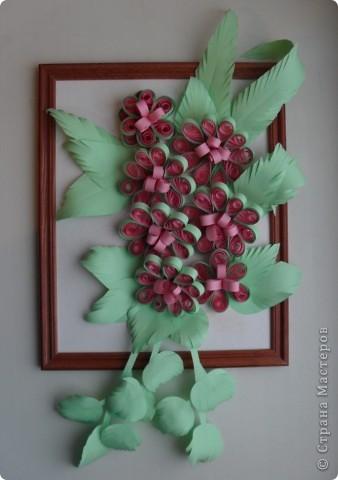 Давно хотела сделать цветы на воронке, но всё не получалось. А эти ничего, держатся... фото 1