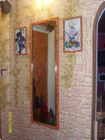 Для витража использовала витражные краски, получились вот такие веселые ирисы. фото 5