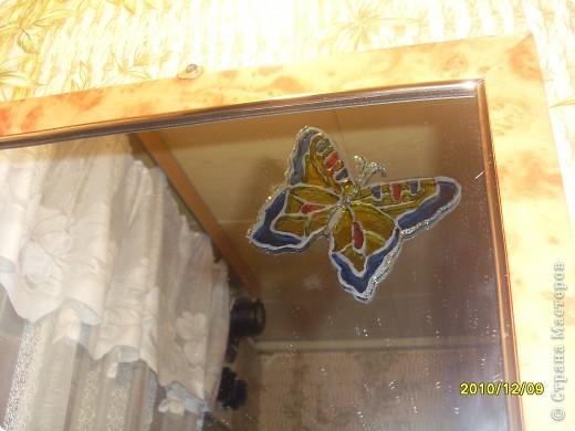 Для витража использовала витражные краски, получились вот такие веселые ирисы. фото 4