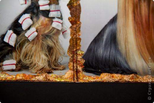 Синтетическая обложка, декорированная в технике декупаж, искусственно состаренная кракелюрным лаком. В декоре использовалась распечатка работы художника Caia Koopman. фото 4