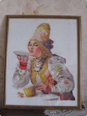 Боярышня за чаем
