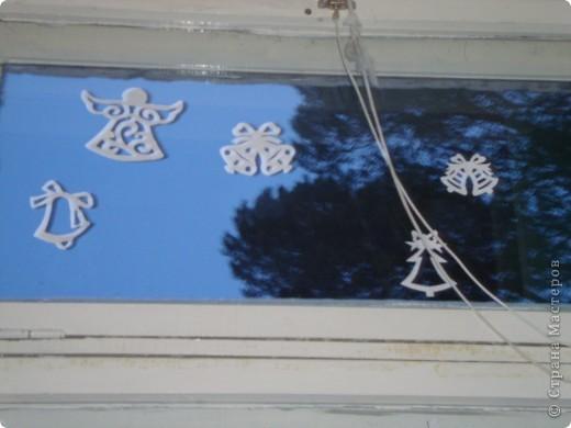 Украсили окна к Новому году. фото 4