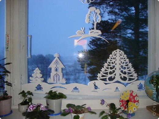 Украсили окна к Новому году. фото 2