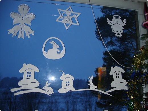 Украсили окна к Новому году. фото 3