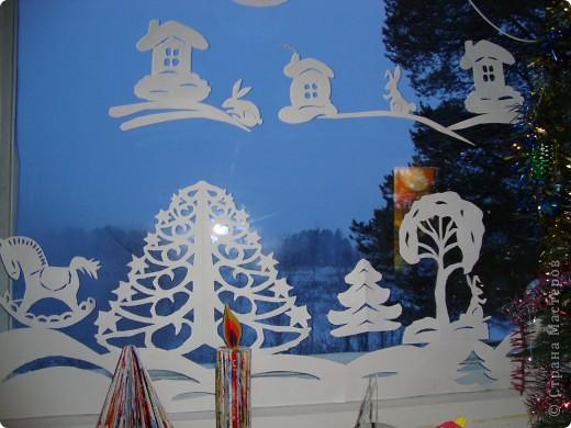Украсили окна к Новому году. фото 5