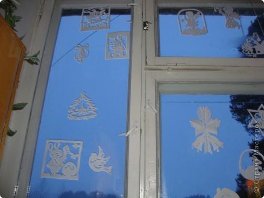 Украсили окна к Новому году. фото 1