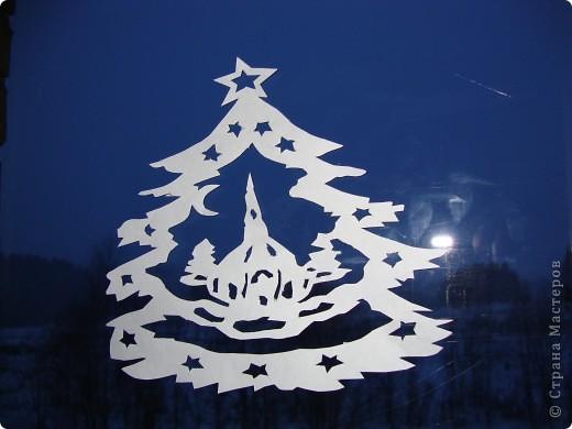 Украсили окна к Новому году. фото 8