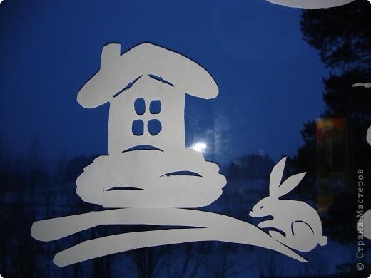 Украсили окна к Новому году. фото 6
