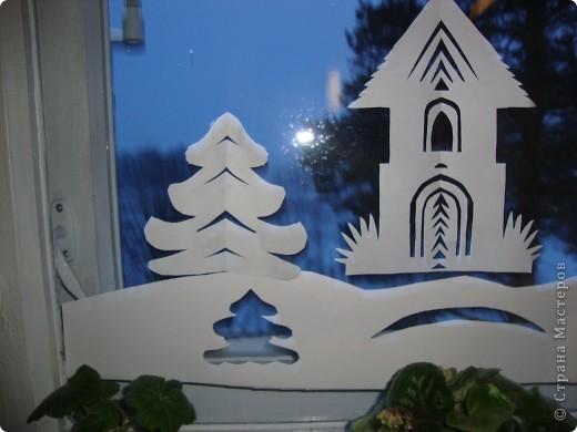 Украсили окна к Новому году. фото 9
