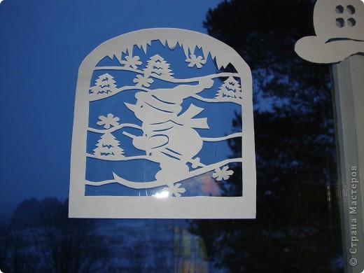 Украсили окна к Новому году. фото 10