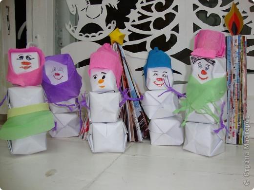 Наши надувные снеговики.
