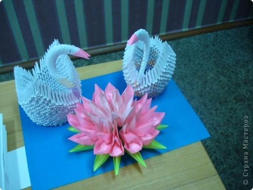Моя одна из первых работ. Лебеди   фото 1