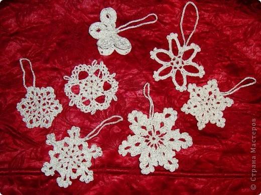 Снежинки на елку. фото 1