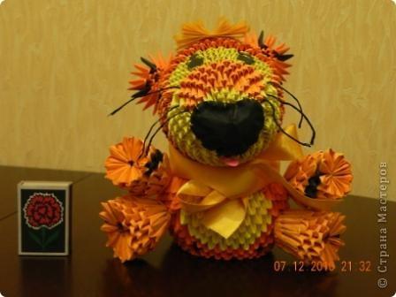 Этого тигра сотворила моя ученица Марина Тараканова. Она сделала подарок маме на день рождения. Мама родилась в год тигра.  фото 1