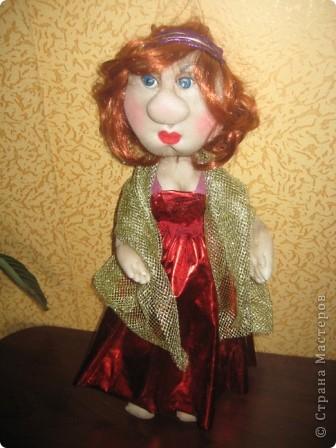 Вот такая дама у меня получилась. Кукла на проволочном каркасе. фото 1