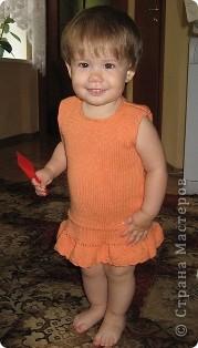 Персиковое платье для девочки