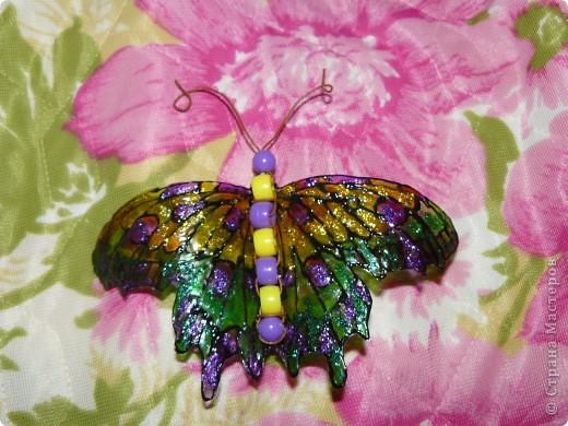 продолжение бабочек из пластиковых бутылок фото 2