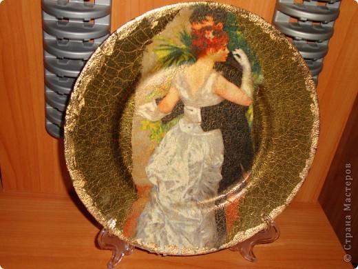 Тарелка-прямой декупаж-сделана в подарок. фото 1