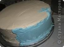 Решила рассказать как можно дома сделать простой и красивый по оформлению тортик, вот такой кусочек пляжа получился у меня фото 8