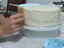 Решила рассказать как можно дома сделать простой и красивый по оформлению тортик, вот такой кусочек пляжа получился у меня фото 10
