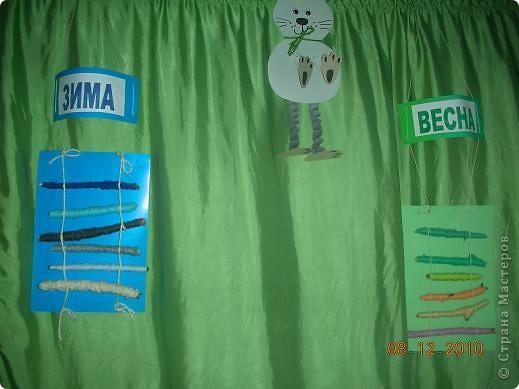 Этот календарь дети изготовили сами на занятиях ручного труда. фото 1