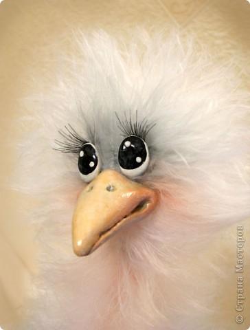 Добрый день, дорогие рукодельницы! Я обещала Вам, показать как я делаю своих птичек, и вот, делая еще одну дамочку, смогла немного заснять и сам процесс. МК предоставлен для ЛИЧНОГО использования! Не для того, что бы птичек выставлять на ПРОДАЖУ! Спасибо за понимание и уважение авторского права!  Некоторые люди просто удивляют и поражают тем, что даже не напишут, что это не их авторская работа..  Для работы мне понадобилось: Проволока медная в оплетке 2-3 мм в сеч. Нитки Yartart tecno Акриловые нитки в цвет пушистым Полимерная застывающая глина Акриловые краски Акриловый лак Реснички Тени, румяна, для тонировки пуха  И так, приступим))))  фото 22