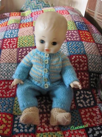 Вот так одели Антошку! Куклу принес Артем с продленки, воспитатель попросила как-то одеть) фото 1