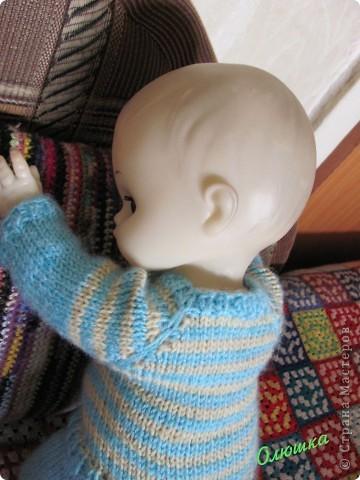 Вот так одели Антошку! Куклу принес Артем с продленки, воспитатель попросила как-то одеть) фото 2
