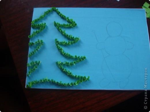 Вот такую картинку сделала Настенька к Новому году. (с моей небольшой помощью) фото 4