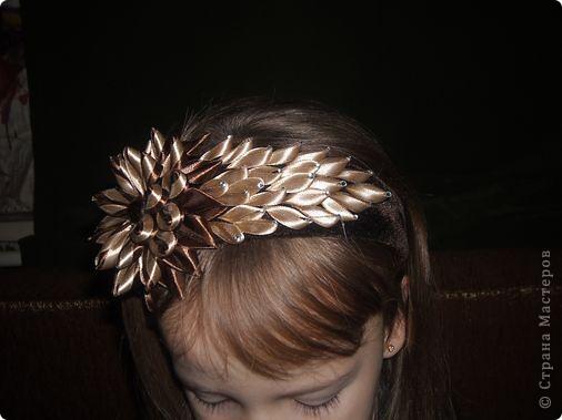 Украшение Цумами Канзаши Цветы из лент заколки-9шт  Бусины Ленты фото 2