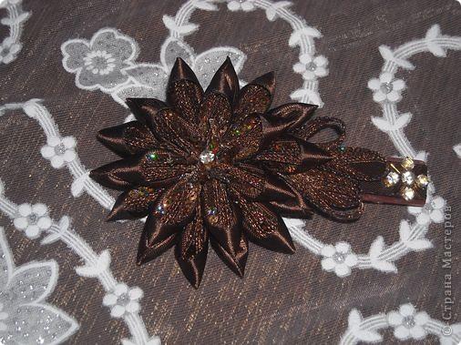 Украшение Цумами Канзаши Цветы из лент заколки-9шт  Бусины Ленты фото 4